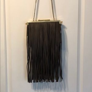 NWT 2 in 1 Zara Green & Brown Gold Chain Handbag